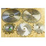 """#44 Five 1/2"""" Arbor Used Table Saw Blades"""