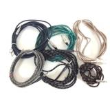 """Lot of  6 1/4"""" Braided Instrument Cables"""