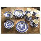 Set of Royal Willoware Blue & White China