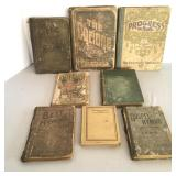 8 Vintage Song Books, Hymnals