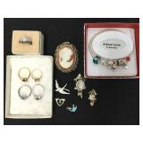 Lot of Costume Jewelry and Sterling