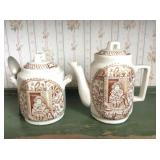 Two Piece Transferware Teapot and Creamer