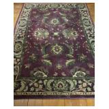 "Dark Red Area Rug 62"" x 90"""