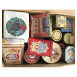 Large Box of Assorted Tins