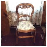 Carved Back Victorian Side Chair