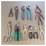 Slip Joint Pliers, Pliers, Wire Cutters, Tin Snips