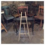 Six Wood Crafting Chairs