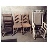 Lot of Five Various Chairs