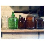 Five Clear / Amber / Green Bottles