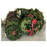 Large Lot of Christmas Greenery, Wreaths