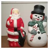 2 Blow Molds, Santa and Snowman