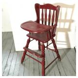 Red Painted High Chair