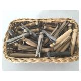 Basket of Wood Clothes Pins