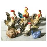 Lot of Roosters, Chickens