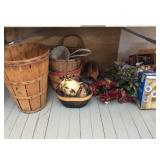 Lot of Modern Decor, Baskets Under Table
