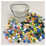 Ball Jar with Old/Antique Marbles
