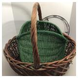 2 Large Baskets, Cemetery Wreath Holder
