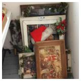 Lot of Decorated Window Frames, Prints