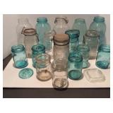Lot of Various Size Canning Jars