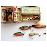 Lot of Vintage Fishing Lures, Items