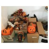 Large Lot of Fall and Halloween Decor