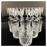 24 pcs Waterford Clare Crystal