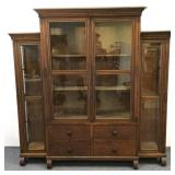 1914 Inlaid Triple Display Cabinet