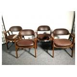 Four Mid-Century Danish Modern Design Arm Chairs