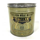 Golden Rule Blend 10 lb. Coffee Tin