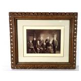 Victorian Family Photo in Ornate Frame