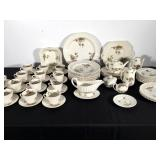 60 pc Spode Basket Weave Wicker Lane China