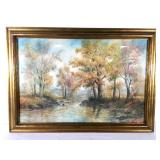 Framed Watercolor Landscape, signed G.H. Flavelle