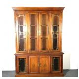 Broyhill Asian Inspired Mahogany Lighted China