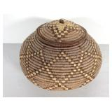 African Coil Basket with Lid