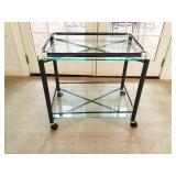 Glass Tea Cart