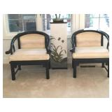 2 Century Asian Ming Horseshoe Accent Chairs
