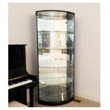 Modern Black Lacquered Corner Display Cabinet #2