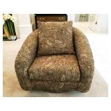 Milo Baughman Design Swivel Chair