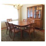 8 pc Mid-Century Drexel Dining Room Set