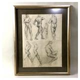 Male Charcoal Figure Study, Clyde Singer 1933