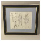 Female Figure Pencil Drawing, Clyde Singer 1988