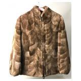 Vintage Soft Sheared Real Fur Bomber Jacket