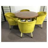 Mid-Century Hekman Pub/Game Table & 4 Chairs