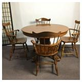 Table with 4 Nichols & Stone Chairs