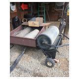 yard cart, lawn roller, aerator