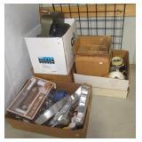 Household items including blenders, jars, cake