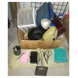 Office organizers, lamps, brief case, clock,