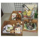 Home décor items including many chicken related