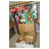 Christmas items including Stepping Santa, Santa