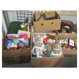 (7) Boxes of Christmas and holiday items